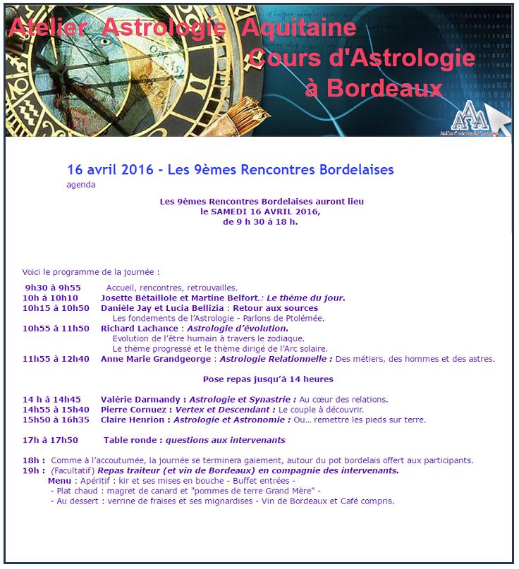 Programma Bordeaux 2016